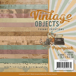YCPP10017 - Paperpack - Yvonne Creations - Vintage Objects