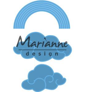 LR0531 - Marianne Design - Creatables - Rainbow & clouds - 64x33mm