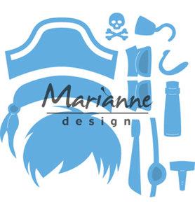 LR0527 - Marianne Design - Creatables - Kims Buddies Pirate - 79x82mm