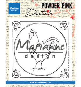 PP2805 - Marianne Design - Clear Stamp - Powder Pink – Dutch Rooster - 82x82mm