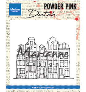 PP2804 - Marianne Design - Clear Stamp - Powder Pink – Canal House - 83x60mm