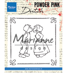 PP2803 - Marianne Design - Clear Stamp - Powder Pink – Kissing Couple - 81x82mm