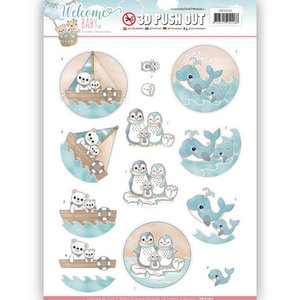 SB10265 - 3D Pushout - Yvonne Creations - Welcome Baby - By The Sea