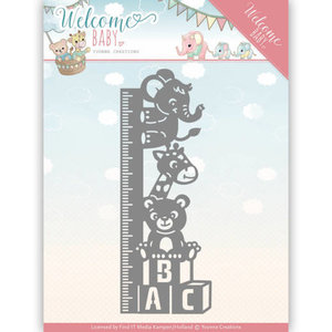 YCD10136 - Dies - Yvonne Creations - Welcome Baby - Growth Chart