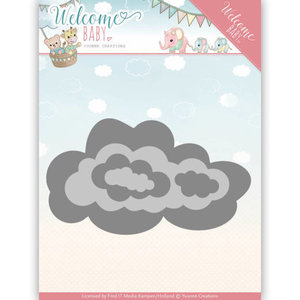 YCD10137 - Dies - Yvonne Creations - Welcome Baby - Nesting Clouds