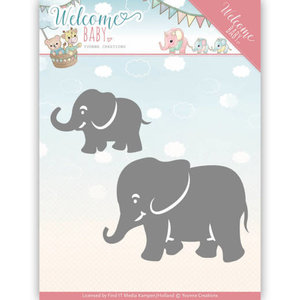 YCD10138 - Dies - Yvonne Creations - Welcome Baby - Little Elephants