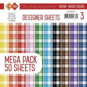 CDDSMP003 - Designer Sheets Mega Pack 3 - Tartan - Bright Colors