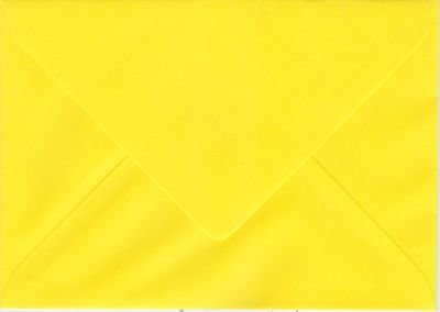 Enveloppen C6(114x162mm) 10 stuks Geel (120gr.)