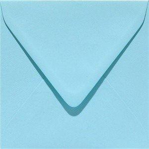 Enveloppen vierkant 14x14 10 stuks Lichtblauw (120gr.)