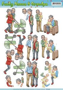 CD11159 - 3D knipvel - Yvonne Creations - Funky Nanna and Grandpa - Babysitting