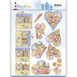 CD11070 - 3D knipvel - Jeanine's Art - Beach Fun - Seashells