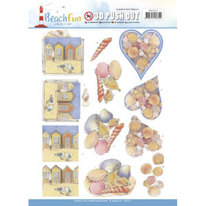SB10273 - 3D Push Out - Jeanine's Art - Beach Fun - Seashells