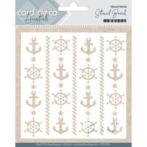 CDEST001 - Card Deco Essentials - Mixed Media Stencil Beach