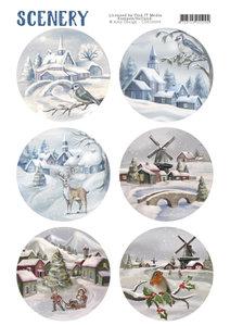 CDS10003 - Die Cut Topper - Scenery - Snow Villages