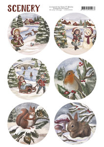 CDS10001 - Die Cut Topper - Scenery - Kids and Animals