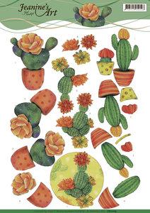 CD11109 - 3D knipvel - Jeanine's Art - Cactus