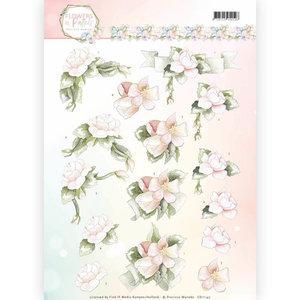 CD11142 - 3D Knipvel - Precious Marieke - Flowers in Pastels - Believe in Pink