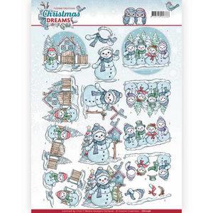 CD11136 - 3D Knipvel - Yvonne Creations - Christmas Dreams - Snowman