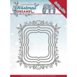 YCD10142 - Dies - Yvonne Creations - Christmas Dreams - Christmas Borders - 9,4x10,3cm