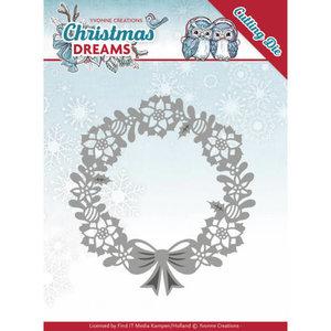 YCD10143 - Dies - Yvonne Creations - Christmas Dreams - Poinsettia Wreath - 10,4x11,2cm