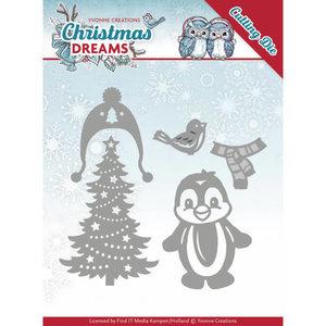 YCD10144 - Dies - Yvonne Creations - Christmas Dreams - Christmas Penguin