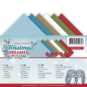 YC-4K-10015 Linnenpakket - 4K - Yvonne Creations - Christmas Dreams