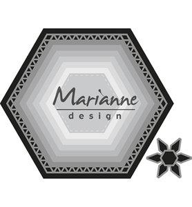 CR1444 - Marianne Design - Craftables - Basic set Hexagon - 106x93mm