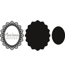 CR1446 - Marianne Design - Craftables - Twine Oval - 111x132mm