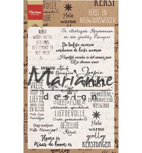 CS1008 - Marianne Design - Clear Stamps - Kerst en nieuwjaarswensen - 110x150mm