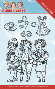 YCCS10045 - Clear Stamps - Yvonne Creations - Bubbly Girls - Girlfriends