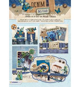 STANSBLOKSL67 - Studiolight - Stansblok - Denim Blues nr.67 - 12 sheets - A4 -170grs