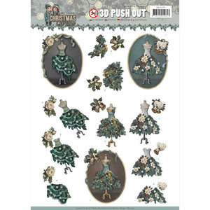 SB10293 - 3D Pushout - Amy Design - Christmas Wishes - Well Dressed