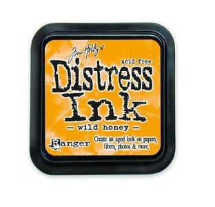 Ranger Distress Inks pad - wild honey stamp pad TIM27201 Tim Holtz