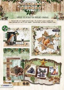 Studio Light Die cut blocs A4 12 vel Woodland Winter 69