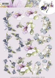 CD11125 - 3D Knipvel - Precious Marieke - Fairy Flowers