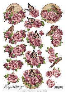 CD11126 - 3D Knipvel - Amy Design - Flowers