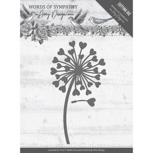 ADD10155 – Dies - Amy Design - Words of Sympathy - Sympathy Flower