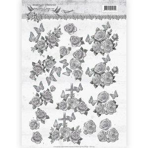 CD11179 – 3D knipvel - Amy Design - Words of Sympathy - Sympathy Roses
