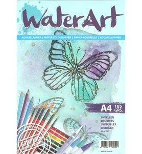 Water Art - Aquarelpapier 20 sheets / A4 / 185 grs