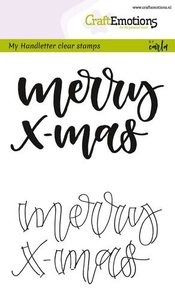 130501/1809 CraftEmotions clearstamps A6 - handletter - Merry Xmas