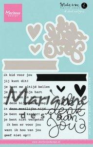 Marianne D Stempel Karin's Ik denk aan jou (NL) KJ1727 65x70mm