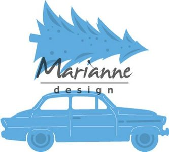 Marianne D Creatable Driving home for christmas LR0567 42x48,5mm – 59x21,5mm