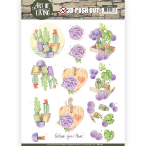 SB10311 3D Pushout - Jeanine's Art - Art of Living - Purple Art