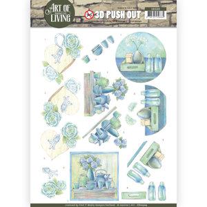 SB10309 3D Pushout - Jeanine's Art - Art of Living - Blue Art