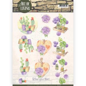 CD11210 3D knipvel - Jeanine's Art - Art of Living - Purple Art