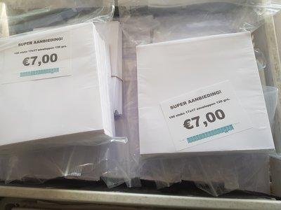 Aanbieding! Enveloppen 17x17cm – 75 stuks – 120 grams – Wit – Rechte klep met plakstrip