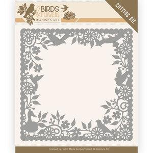 JAD10057 Dies - Jeanine's Art - Birds and Flowers - Birds Frame – 13x13cm