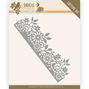 JAD10058 Dies - Jeanine's Art - Birds and Flowers - Daisy Border – 13x4,3cm