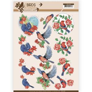 CD11218 3D Knipvel - Jeanine's Art - Birds and Flowers - Blue Birds