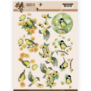 CD11220 3D Knipvel - Jeanine's Art - Birds and Flowers - Yellow birds